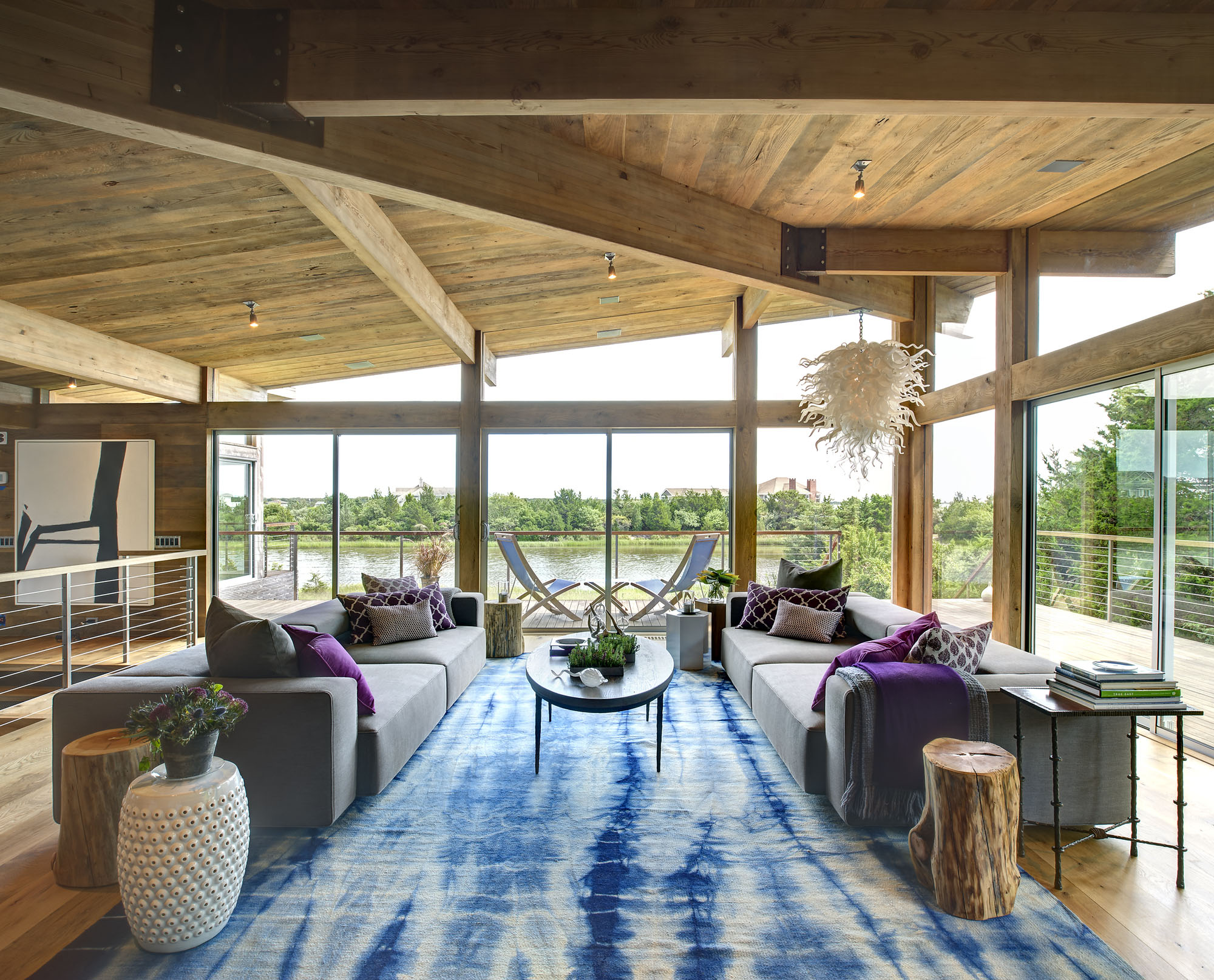 HurricaneProof Wood And Steel Waterfront Home On Long Island