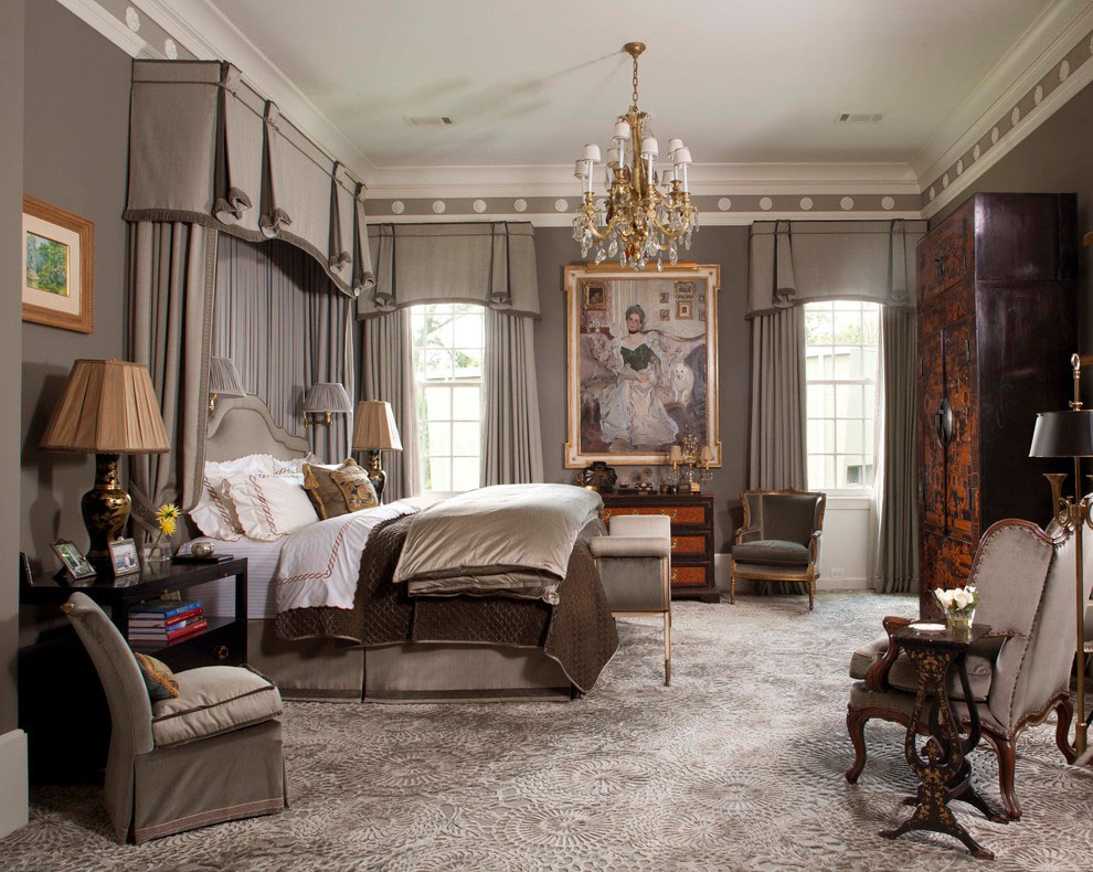 Palatial federal style mansion in houston idesignarch for Classy bedroom interior designs