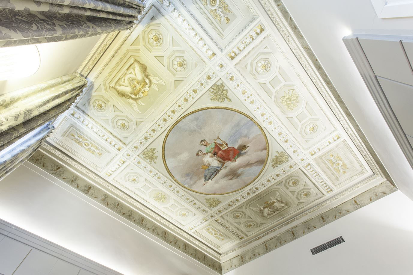 Mezzo Fresco Painted Ceiling