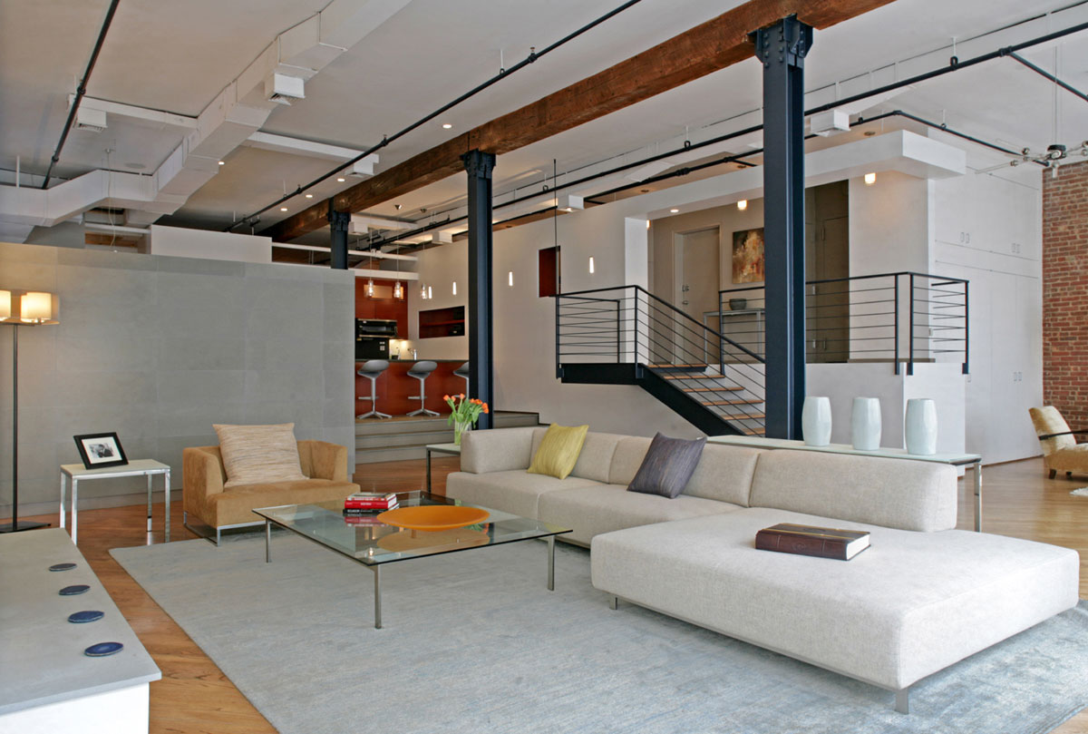 Flatiron District Open Plan Loft In Manhattan. Modern Loft Apartment
