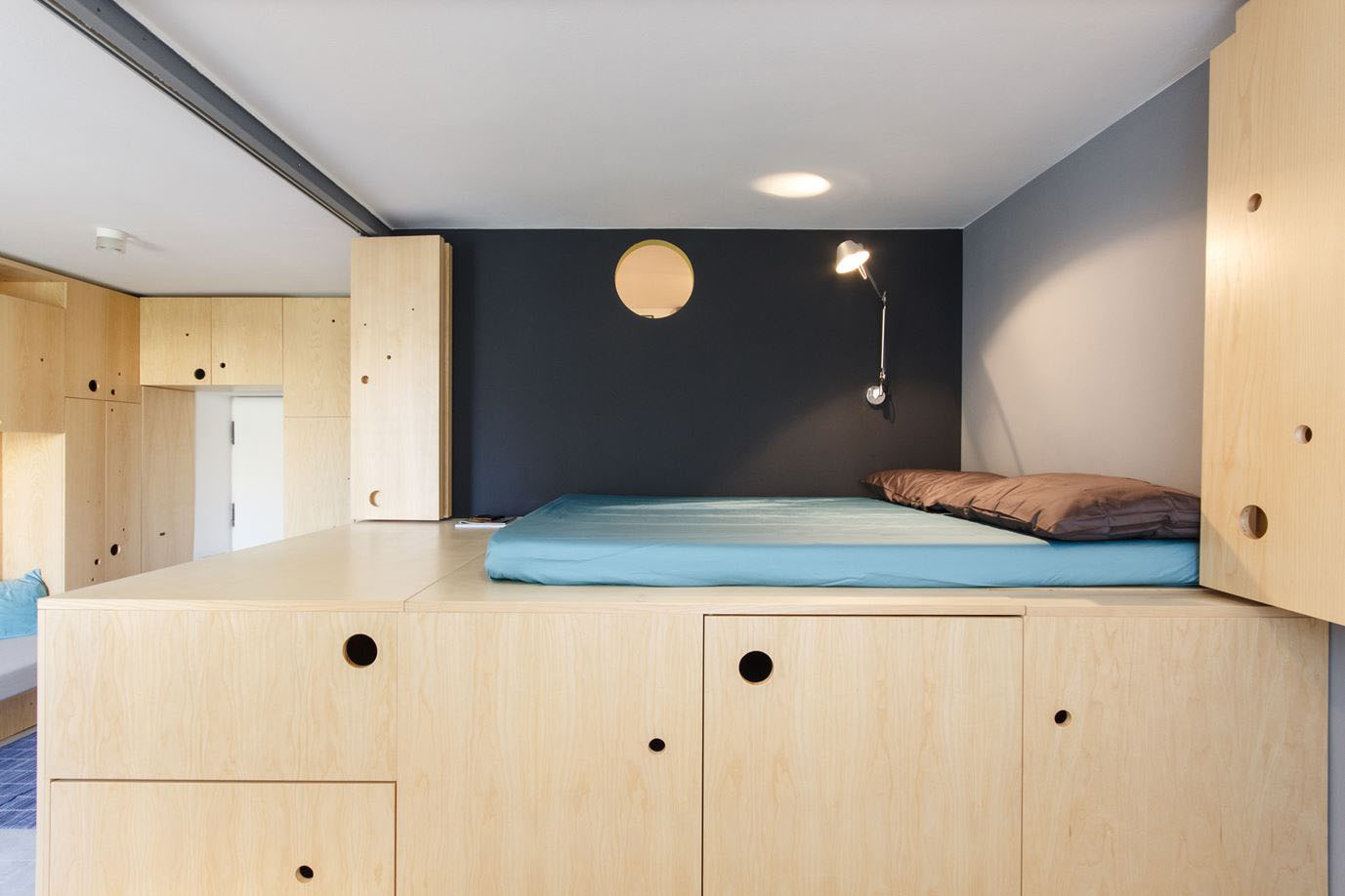 Small Studio Apartment With A Clever Movable Partition