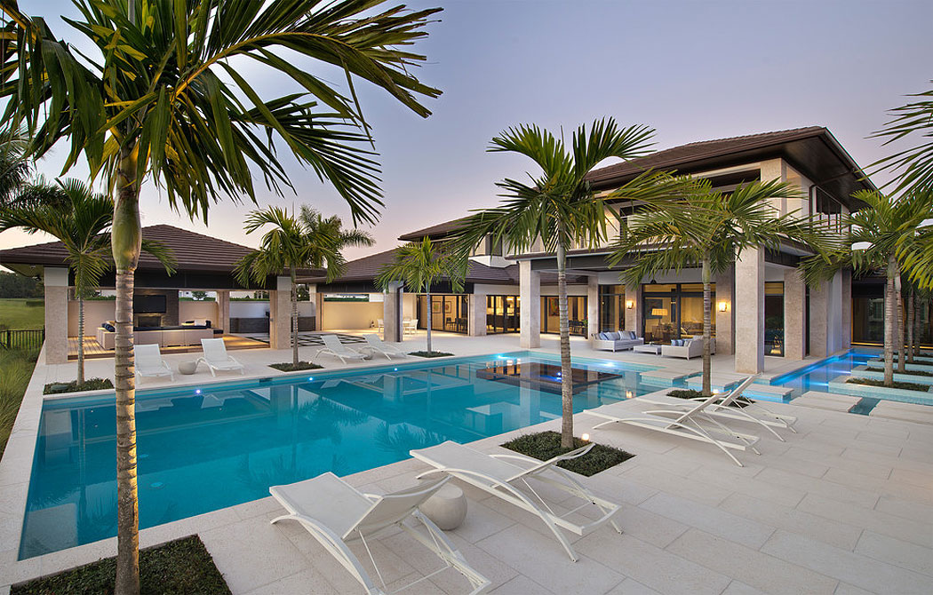 Custom Dream Home In Florida With Elegant Swimming Pool on The Villages Fl Home Floor Plans