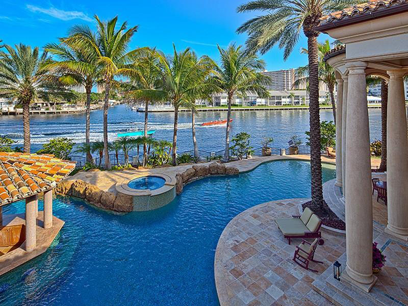 Fort lauderdale mediterranean style estate with beautiful for Pool design fort lauderdale
