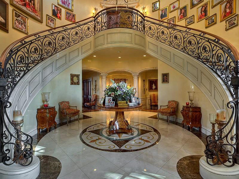 Fort lauderdale mediterranean style estate with beautiful for Luxury staircase