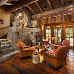 Old West Inspired Luxury Rustic Log Cabin In Big Sky Montana