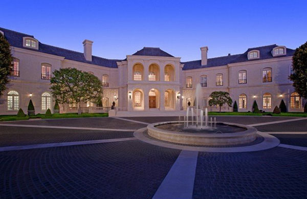 Stunning french chateau style mansion in los angeles for French chateau style