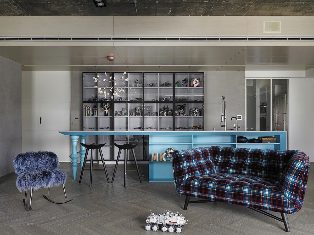 Blue Kitchen Island Counter