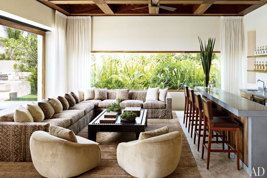 George Clooney's House Living Room Interior Design