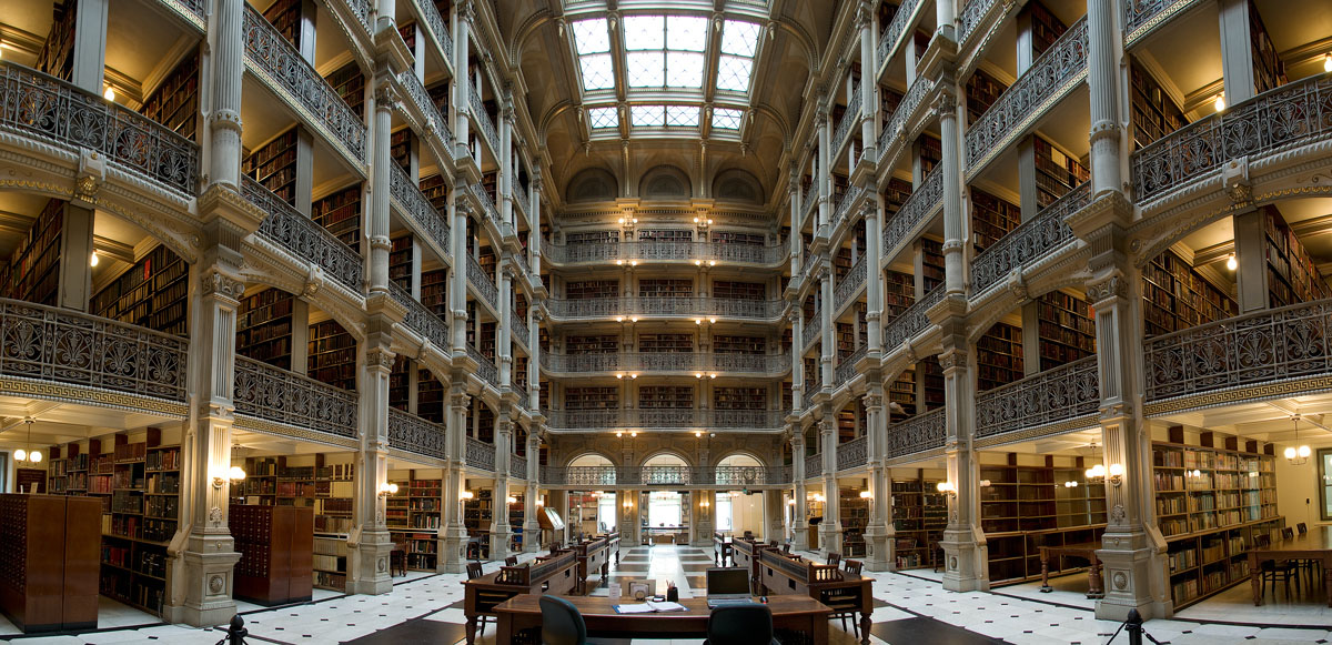 The George Peabody Library Baltimore Maryland