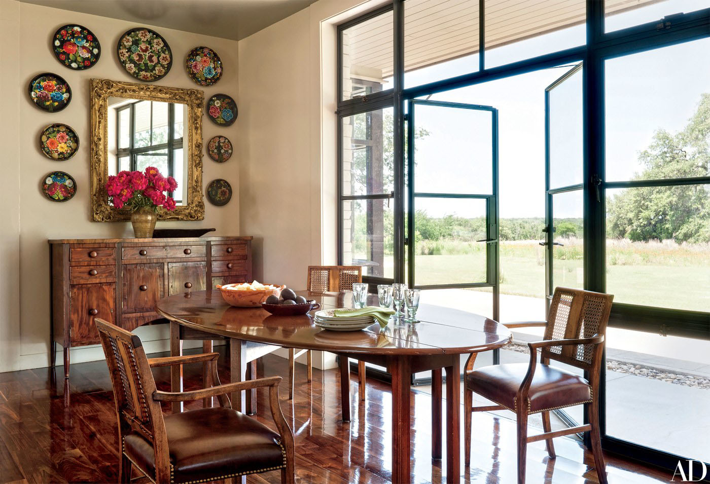 Inside laura and george w bush 39 s subtly rustic texas - Ranch americain poet interiors houston ...