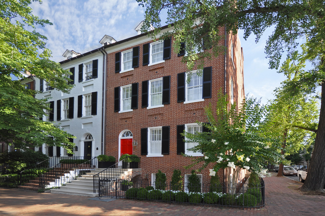 Federal style townhouse with restored exterior and for Dc home for sale