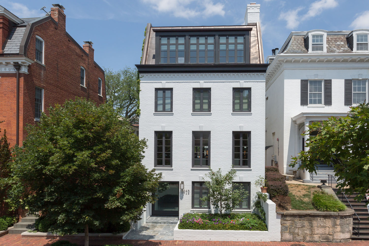Impeccable Modern Townhouse In Georgetown With Glass Elevator on Narrow Bathroom Floor Plans