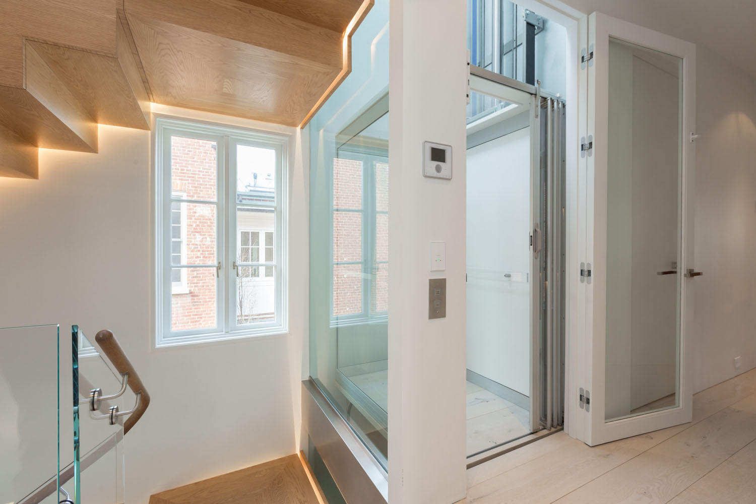 Impeccable modern townhouse in georgetown with glass Elevator townhomes