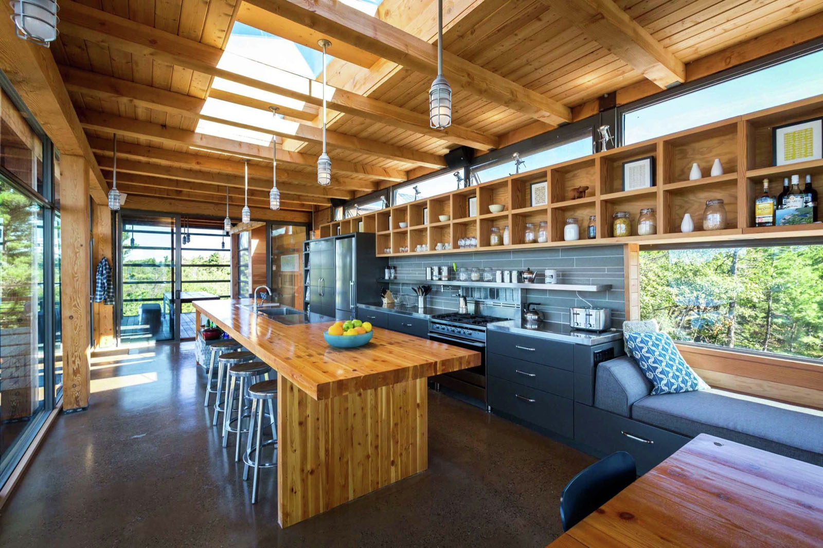 Modern Country Kitchen with Timber Island