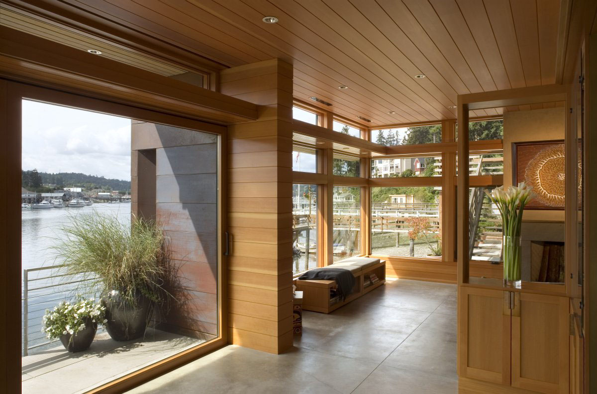 Sustainable house on the water 39 s edge idesignarch - Window design for home ...