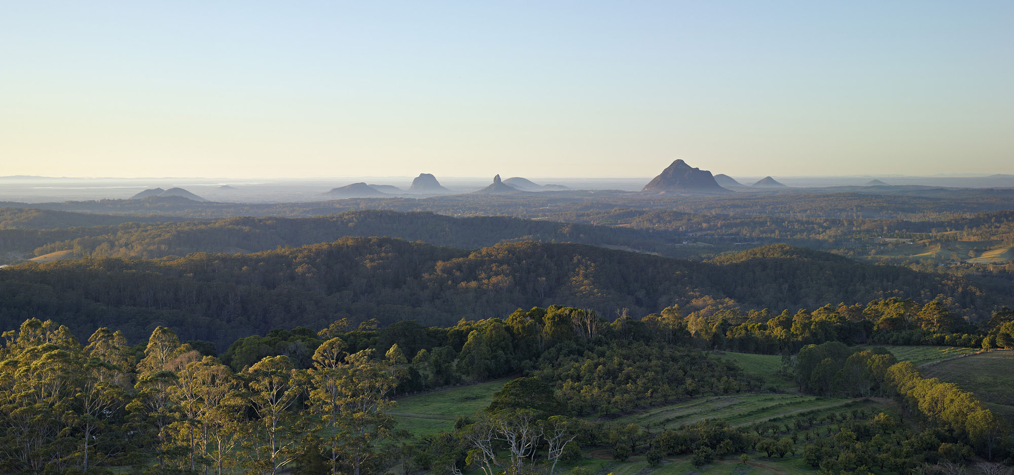 Glass House Mountains Views Maleny Queensland Australia