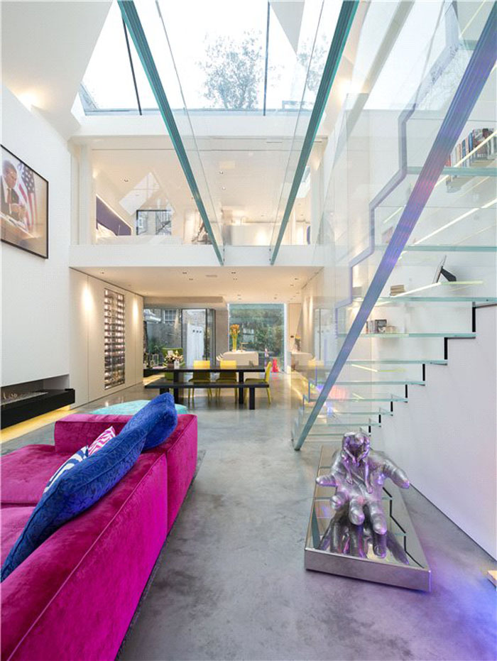 Modern Home with Glass Staircase