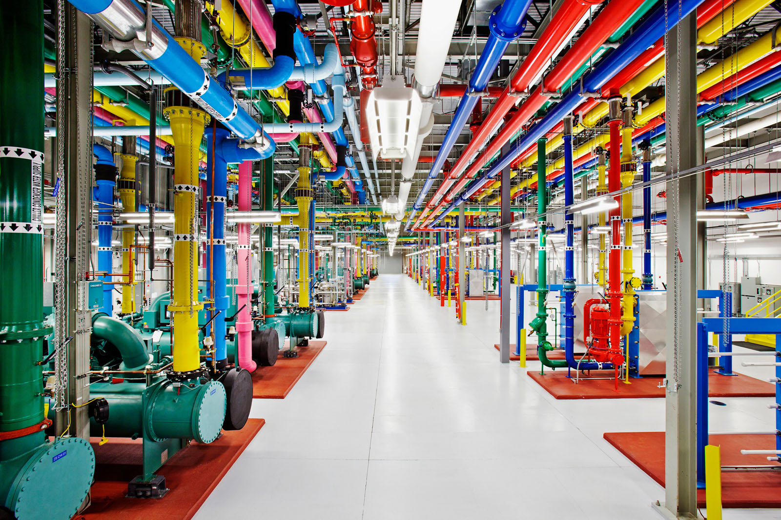 Google Colorful Water Pipes