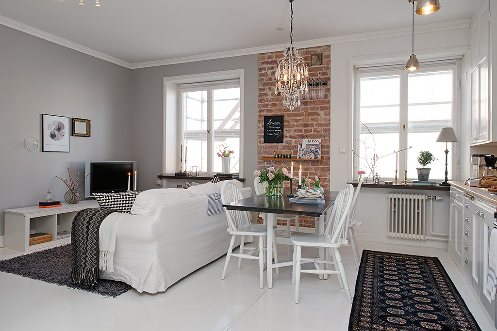 Renovated 388 sq ft modern studio apartment for Apartamento de decoracion interior