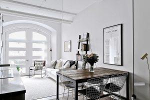 Scandinavian Style Small Studio Apartment