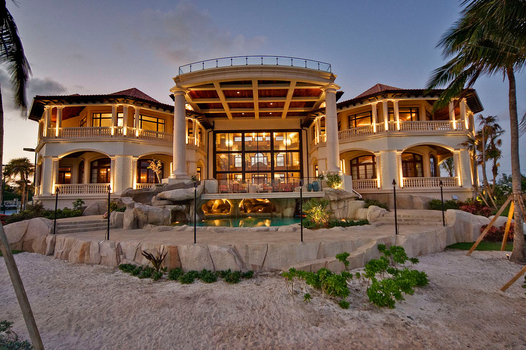 Grand cayman luxury home with grotto pools idesignarch for Luxury house