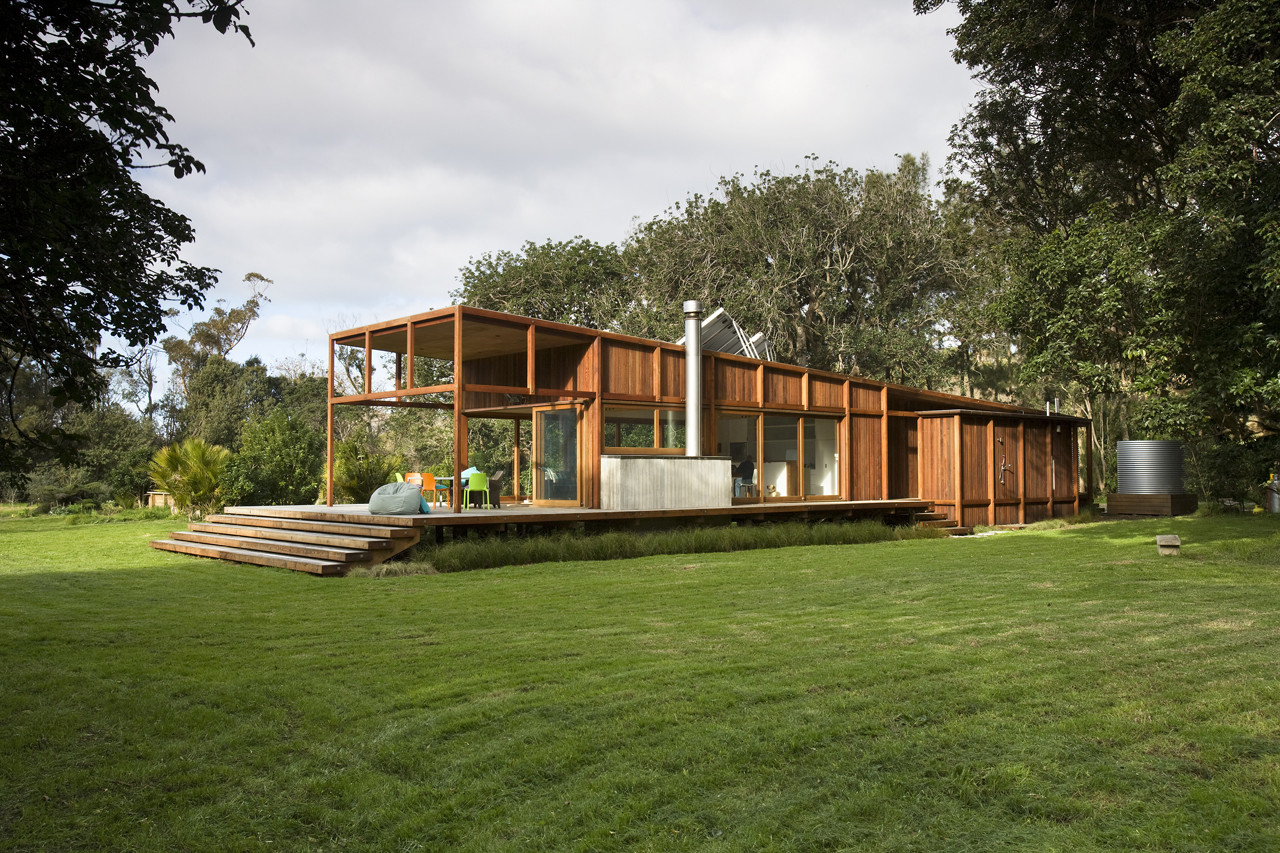 Great Barrier Island Sustainable House Surrounded By