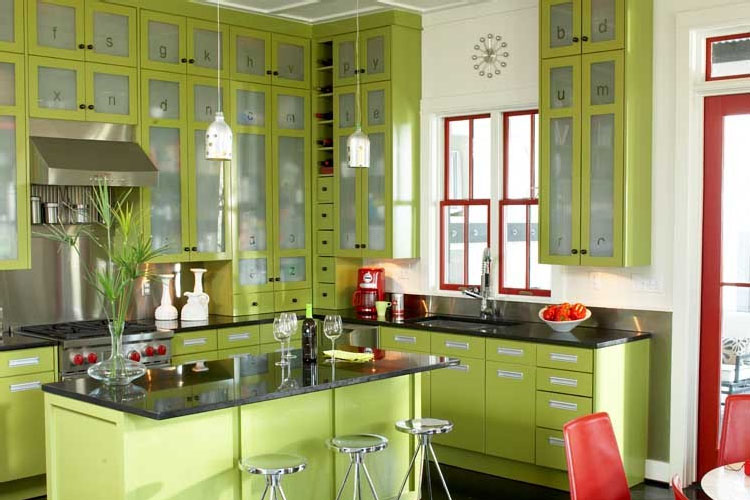 Modern Kitchen Green green modern kitchen | idesignarch | interior design, architecture