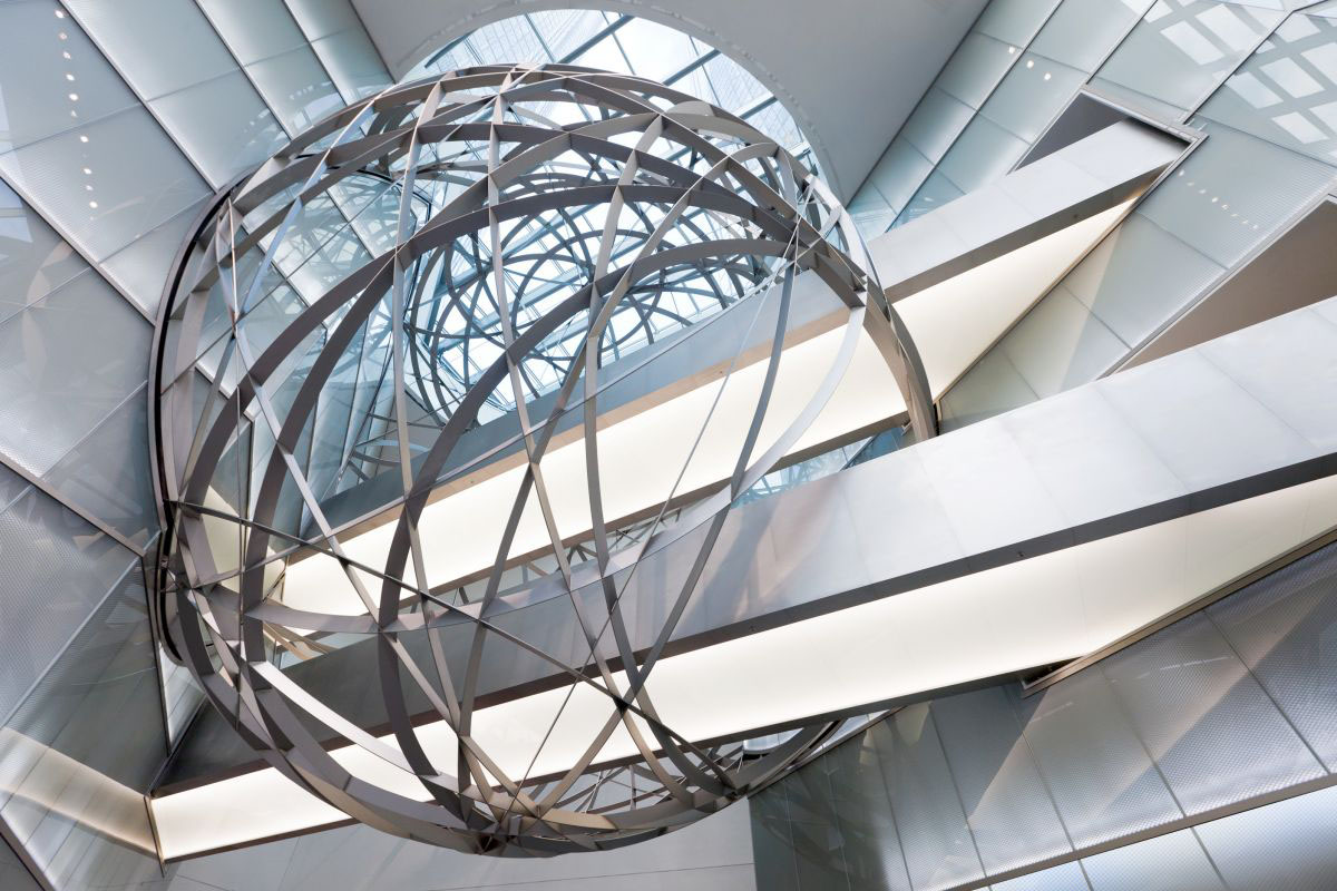 Deutsche Bank Steel Sphere In Frankfurt Idesignarch