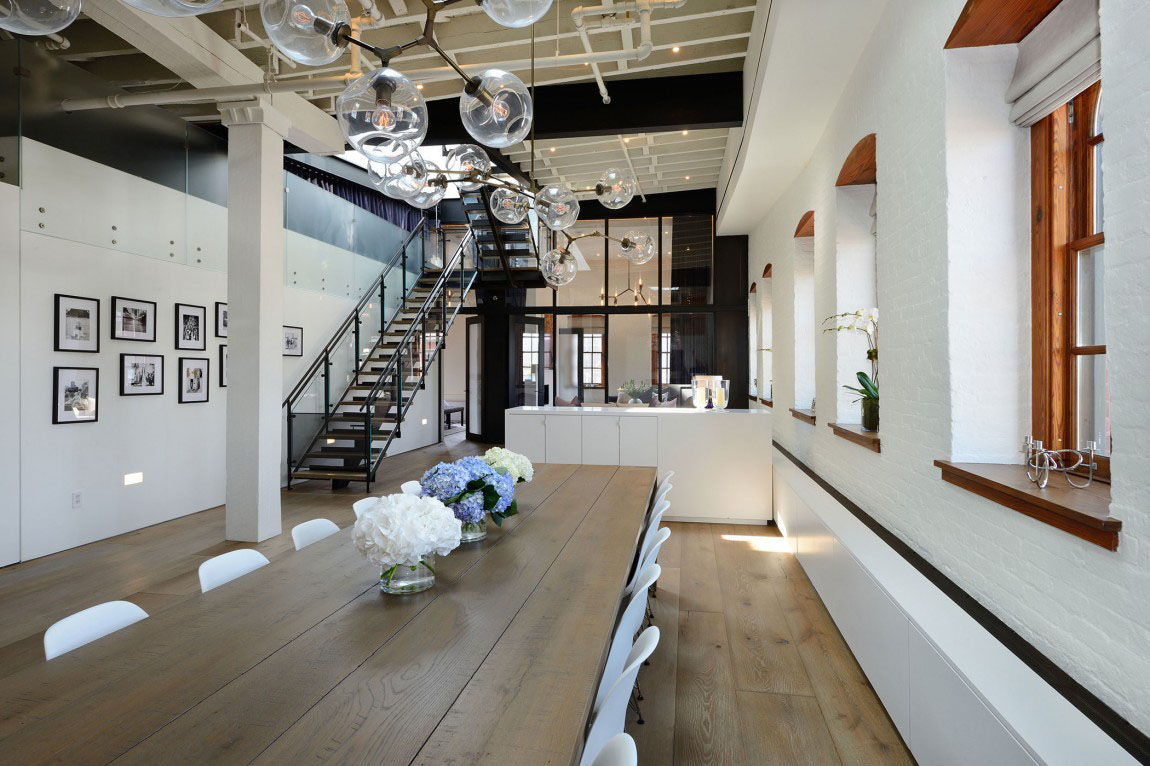 Warehouse Penthouse Loft Blends Modern New York With Old ...