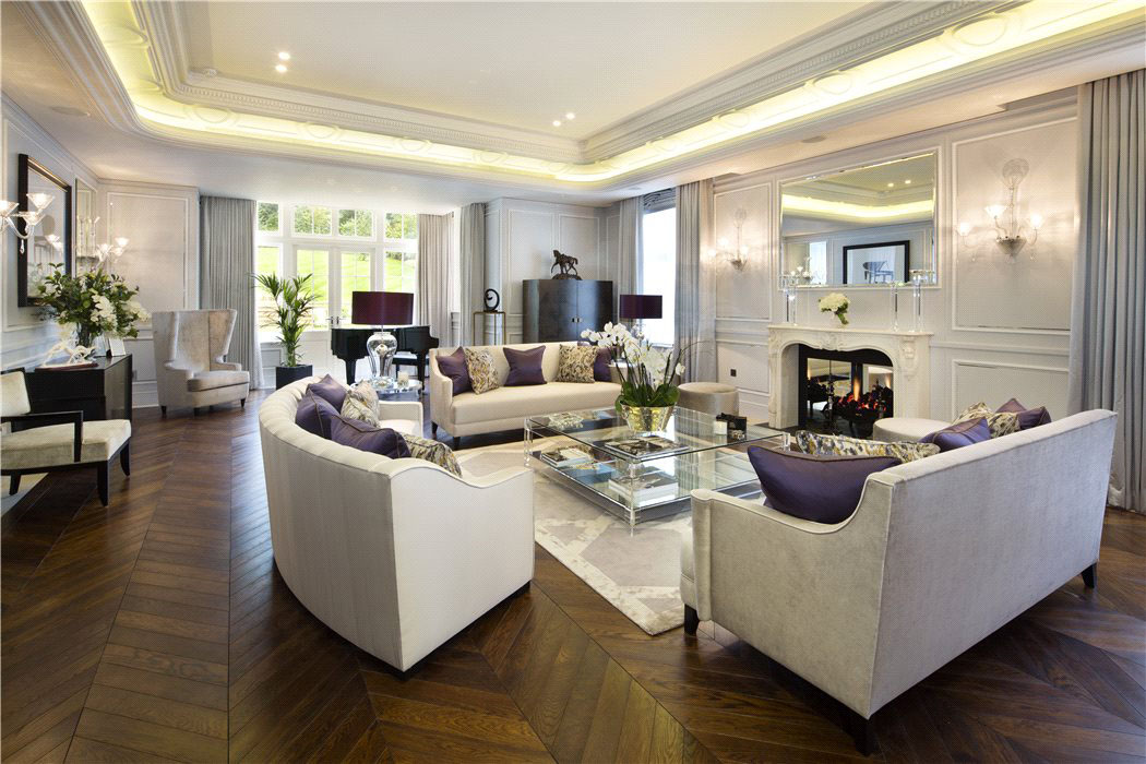 Elegant contemporary english mansion in hampstead for Elegant interior design