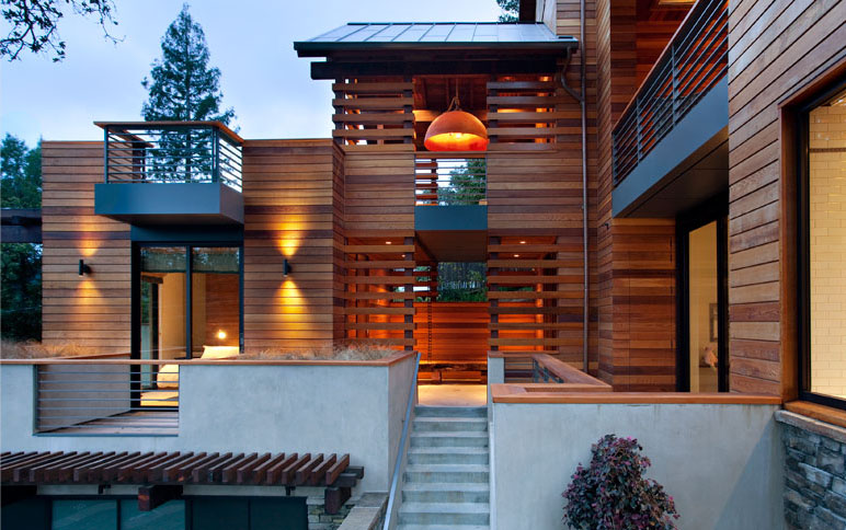 The hillside house in mill valley idesignarch interior for Modern homes on hillsides
