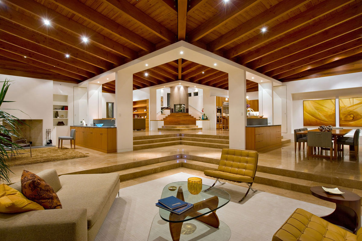 Timeless architectural estate in rancho santa fe for Modern architectural interior designs