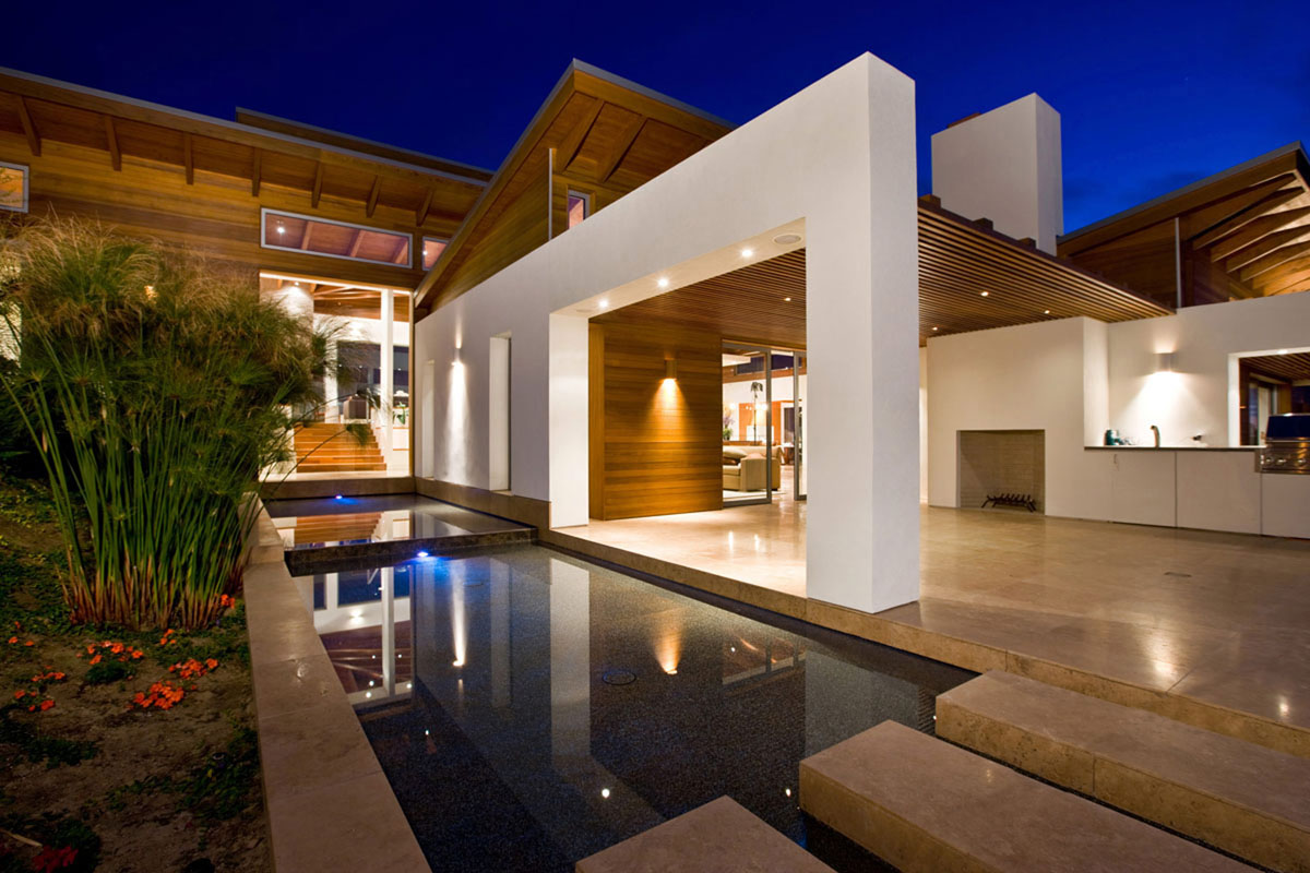 Timeless architectural estate in rancho santa fe for California contemporary interior design