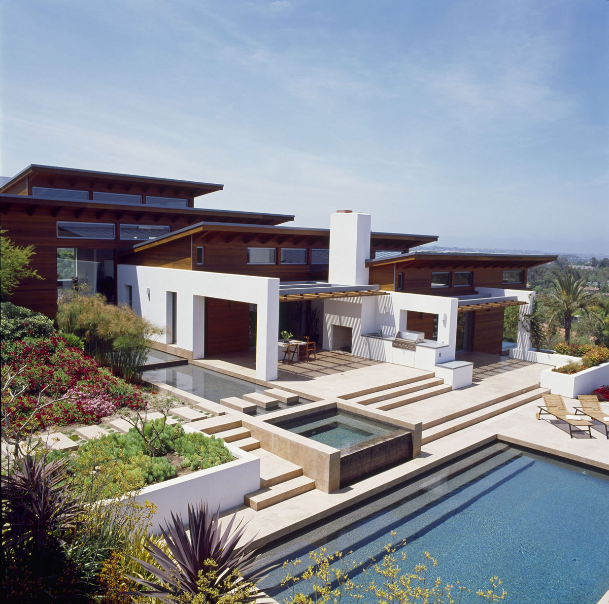Timeless architectural estate in rancho santa fe for Luxury modern home builders