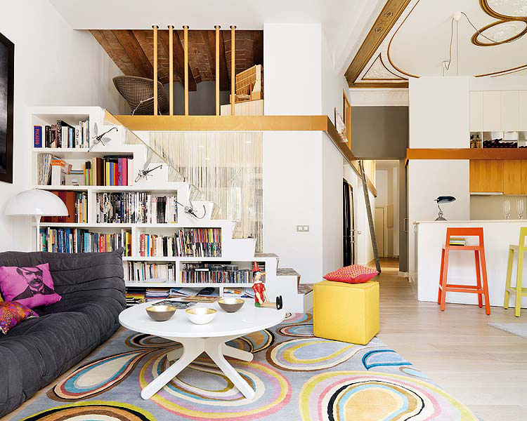 Colourful Hip Apartment In 19th Century Building | iDesignArch