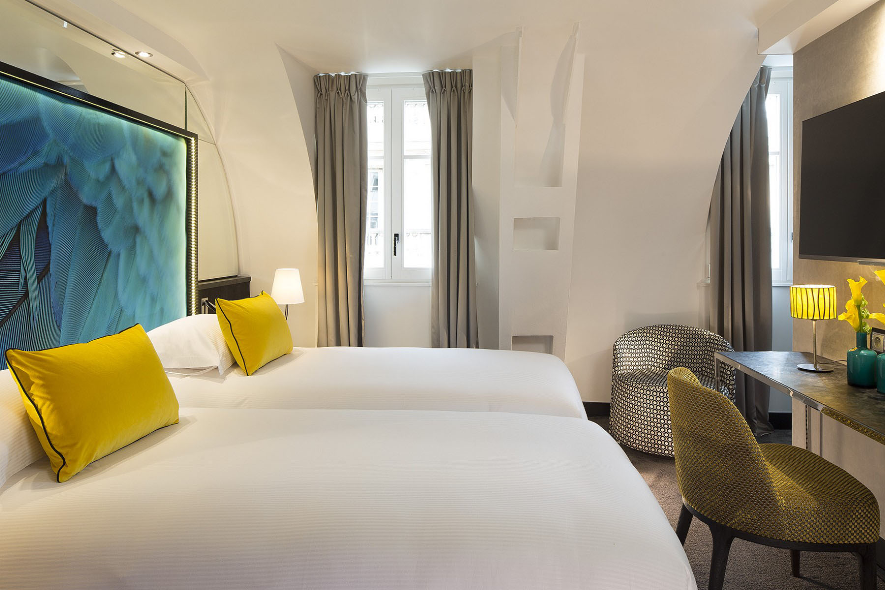 Contemporary Paris Hotel Room