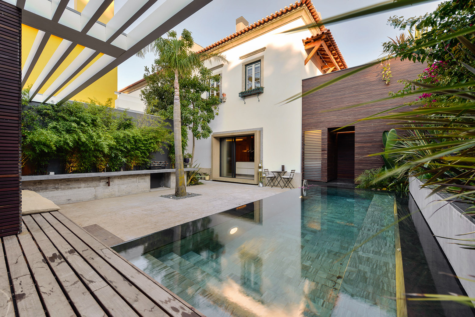 A Dream House Design That Bridges Historic And Contemporary Elements.  Modern Mediterranean Home With Swimming Pool