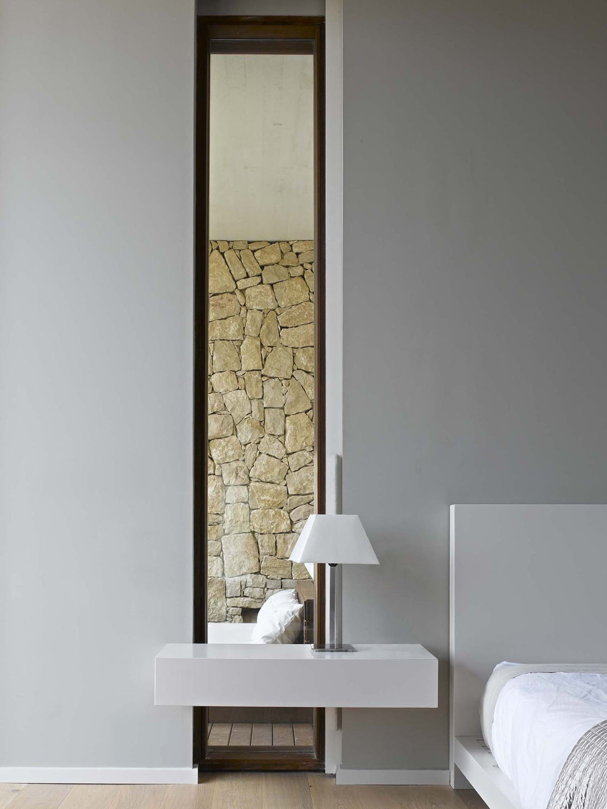 Minimalist Stone House In Monasterios With Open Courtyards ...