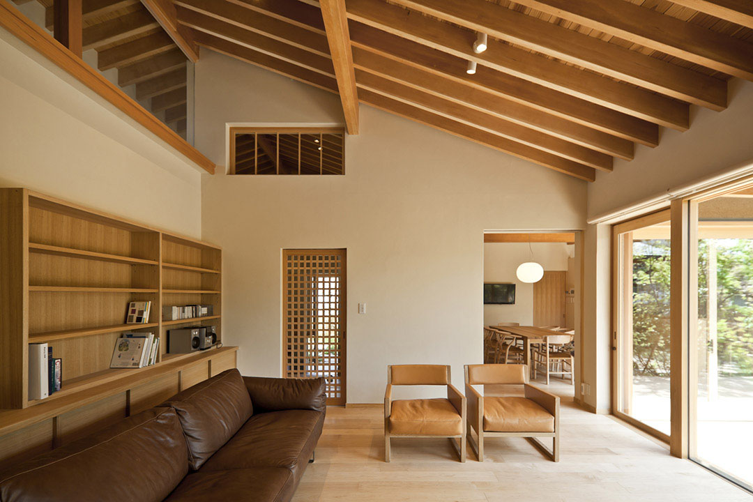 Japan House with Natural Wood Elements Timber Framed