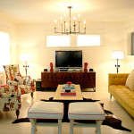 Living Room Design With Custom Vintage Furnishings