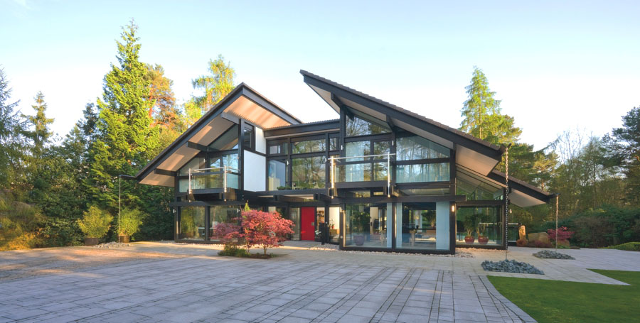 Sustainable Post And Beam Prefab Chic Modern Home By Huf Haus ...
