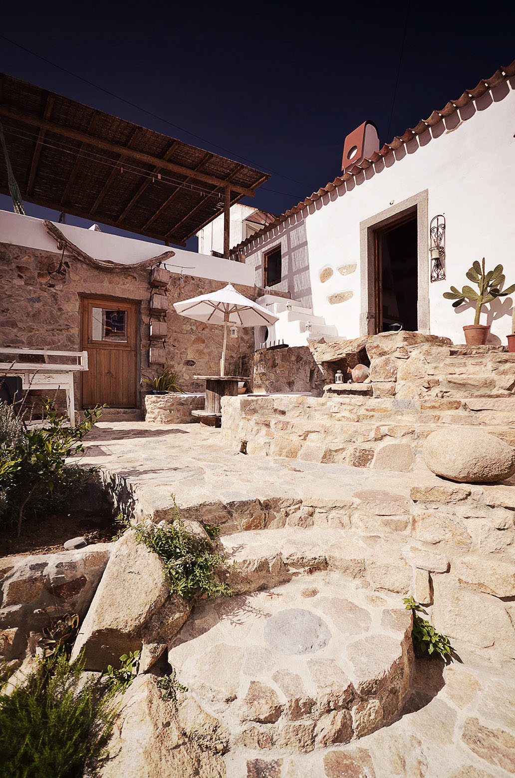 Rustic Stone Courtyard