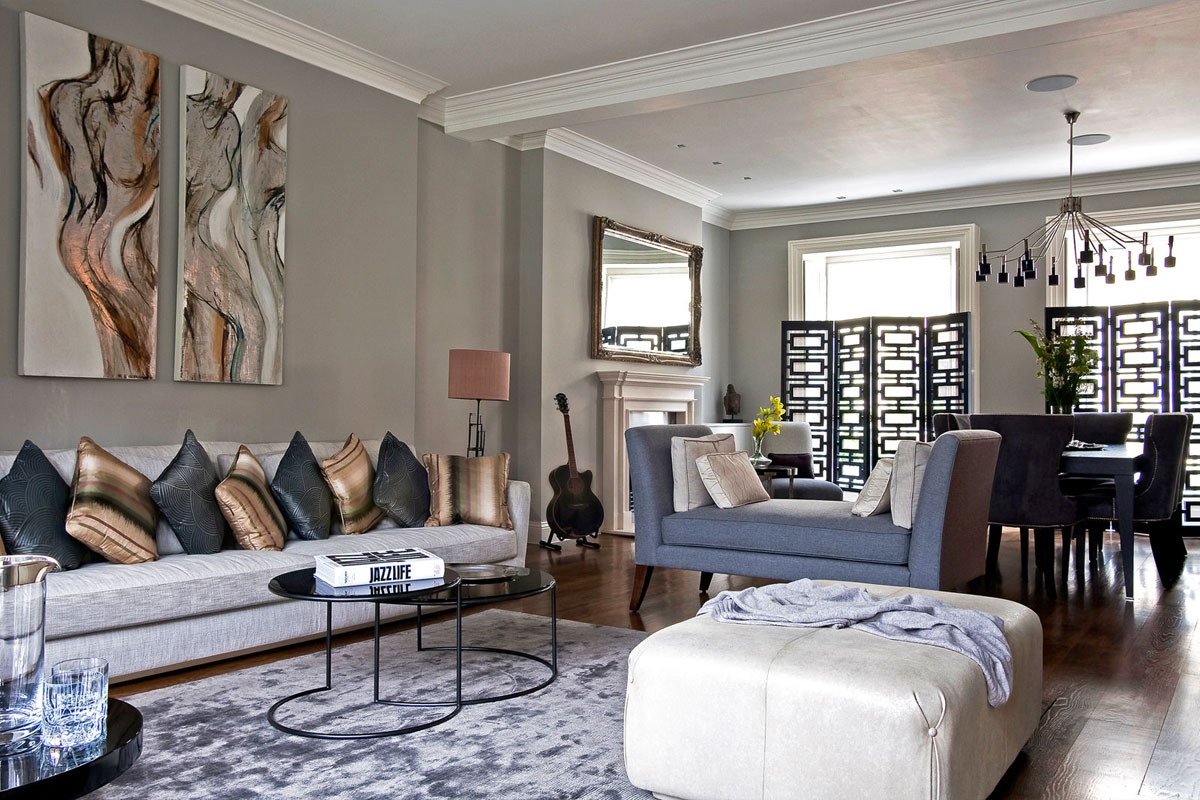 cool townhouse living room design | Contemporary London Hyde Park Townhouse | iDesignArch ...