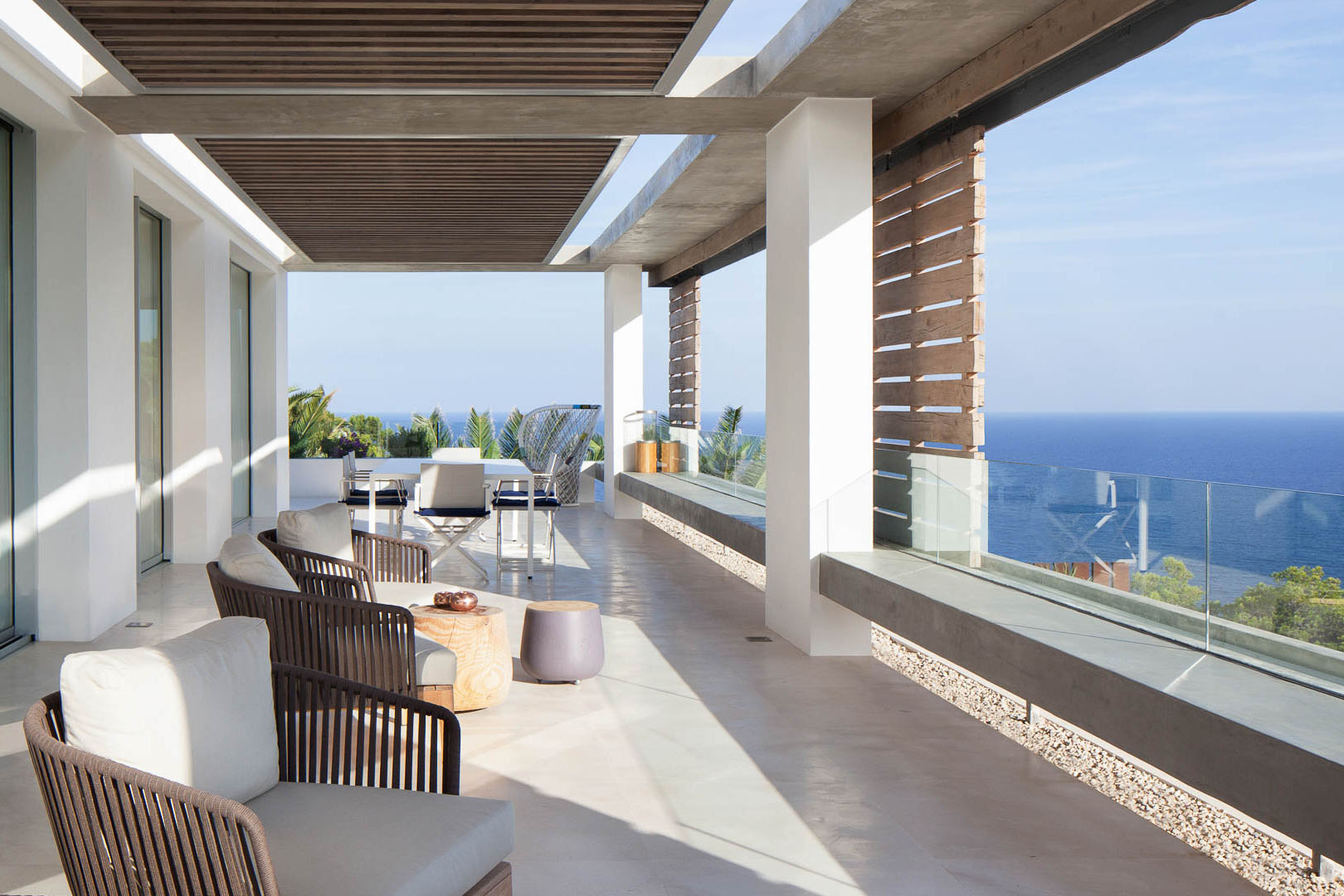 Modern mediterranean villa in ibiza with panoramic ocean for Modern luxury villa design
