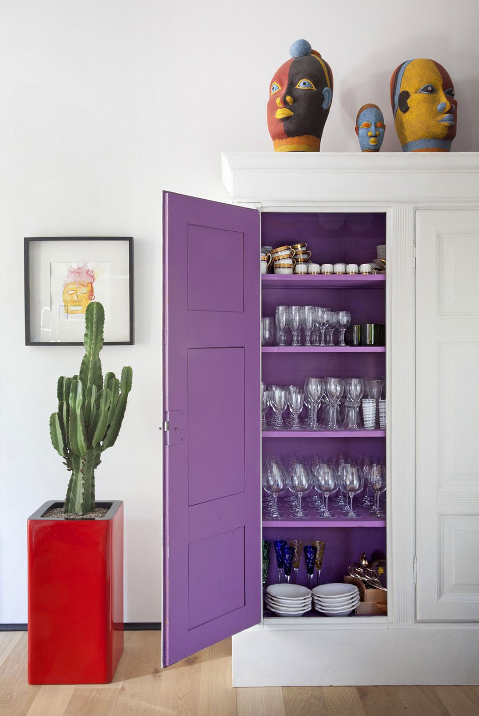 Purple Cabinet Cupboard
