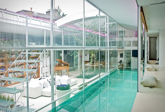 Custom Indoor Glass Swimming Pool For Contemporary Home ...