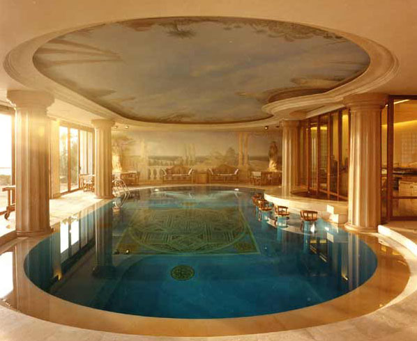 Indoor swimming pool murals idesignarch interior - Inside swimming pool ...