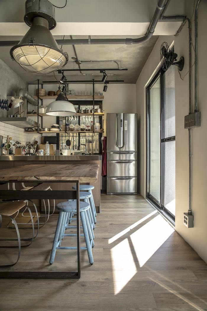 Newly Renovated Industrial Duplex Apartment With Retro