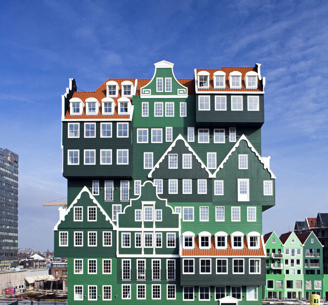 Inntel hotel amsterdam zaandam a real life gingerbread for Design hotels amsterdam