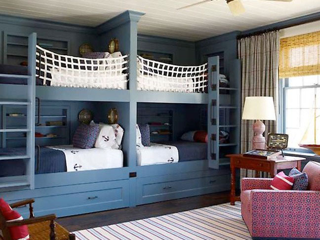 Inspiring bunk bed room ideas idesignarch interior for Boys loft bedroom ideas